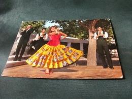 Cartolina Ricamo BORDADO EMBROIDERY RICAMATA DONNA  SPAGNA DANZA BALLO ESPANA TIPICA - Ricamate