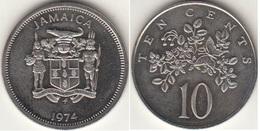 Giamaica 10 Cents 1974 KM#54 - Jamaique