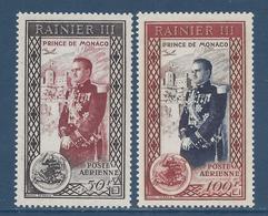 Monaco Poste Aérienne - PA YT N° 49 Et 50 - Neuf Sans Charnière - 1950 - Poste Aérienne