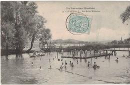54 Luneville Les Bains Militaires Cpa Carte Animée Cachet 1905 - Luneville