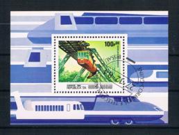 Guinea-Bissau 1984 Eisenbahn Block 262 Gestempelt - Guinea-Bissau