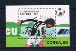 Guinea-Bissau 1988 Fußball Block 272 Gestempelt - Guinea-Bissau