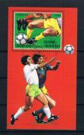 Guinea-Bissau 1989 Fußball Block 281 Gestempelt - Guinea-Bissau