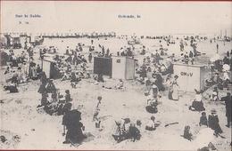 Ostende Oostende La Plage Sur Le Sable 1905 Belle Epoque Strandcabines (In Zeer Goede Staat) - Oostende