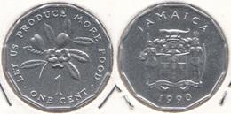 Giamaica 1 Cent 1990 KM#64 F.A.O. - Used - Giamaica