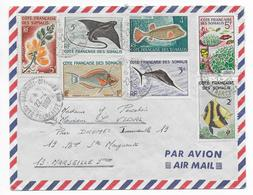 SOMALIS - 1967 - ENVELOPPE Par AVION De DJIBOUTI => MARSEILLE - Lettres & Documents