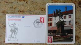 1er Jour Remiremont 88 Depart Des Volontaires Carte Numerotee 1992 - FDC