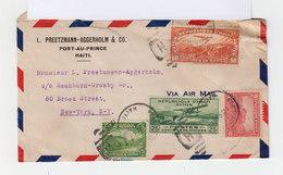 Sur Enveloppe 1935 Par Avion 2 Timbres République D'Haïti Et 2 Timbres Avion. CAD Port Au Prince. (736) - Haïti