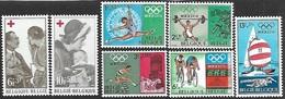Belgium  1968  Sc#B822-8  Red Cross & Olympics Sets  MNH   2016 Scott Value $4 - Belgium