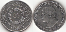 Turkmenistan 20 Tenge 1993 KM#4 - Used - Turkmenistan