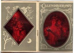 Calendrier Agenda 1907: 12 Proverbes Illustrés. Publicité Tisane Des Shakers. 11 X 15 Cm Fermé 32 Pages - Calendars