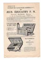 Catalogue Jeux Nathan  1928 12 Pages  TTB état - Publicités
