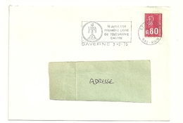 RHIN / Bas - Dépt N° 67 = SAVERNE 1975 =  FLAMME SECAP Illustrée ' 1794 / TELEGRAPHE CHAPPE / PREMIERE LIGNE' - Marcophilie (Lettres)