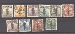 Chine  -  Xinjiang   :  Yv  31...47  (o)   10 Valeurs - Xinjiang 1915-49