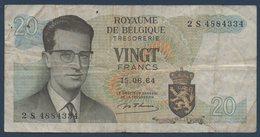 BEL Lot De 2 Billets 20Fr 1964 Et Un Billet 100Fr. 1970 - Unclassified