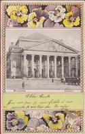Brussel 1903 Belle Epoque De Bruxelles Monnaie Koets Caleche Bloem Fleur Viooltje Veilchen Pub Farine Lactee Renaux - Places, Squares