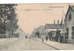 54 Luneville Rue Alsace Quartier Stainville Cpa Carte Animée Animation Cachet Luneville 1904 - Luneville