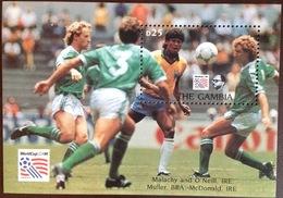 Gambia 1993 World Cup Minisheet MNH - Gambia (1965-...)
