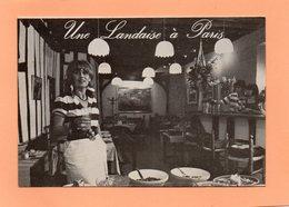 CARTE ANIMEE DU RESTAURANT UNE LANDAISE A PARIS 48 RUE DE VERNEUIL PARIS - Cartes De Visite