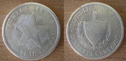 Cuba 40 Centavos 1916 Star Silver Argent Centavo Caraibe Que Prix + Port Pesos Skrill Paypal Bitcoin OK - Cuba