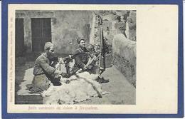 CPA Judaïca Judaïsme Jewish Type Juif Métier Cardeur Coton Jérusalem Non Circulé - Jewish