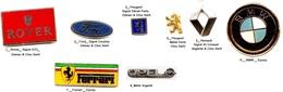 Logo Automobile_Rover-Ferrari_Ford_Peugeot_Renault_BMW__Opel_1 Pin's Aux Choix - Badges