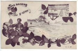29 BREST - Bons Baisers Du 2ème Dépot - Militaria - Ed: L.G. 68 - Brest