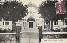 CARTE POSTALE ORIGINALE ANCIENNE : MEZIDON CANON LE GROUPE DE ECOLES COMMUNALES CALVADOS (14) - Sonstige Gemeinden