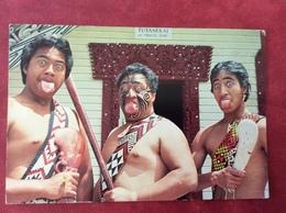 New Zealand. Maori Warriors In Traditional Challenging Stance, Rotorua 1986 - New Zealand