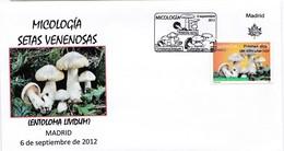 Enveloppe Premier Jour Espagnole, Thème Entolome Livide - Pilze