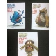 3 Cartes Postales Contre Le Harcèlement Sexiste  (campagne Tisséo, Toulouse, 2017/18) - Humour