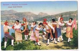 Cartolina - Postcard / Non Viaggiata - Unsent / Sorrento - Panorama Con Tarantella - Costumes