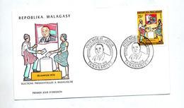 Lettre Fdc 1972 Election Presidentielle - Madagascar (1960-...)