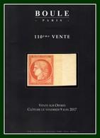 Catalogue 110éme Vente Sur Offres Boule 2017 TB (comme Neuf) - Catalogues For Auction Houses