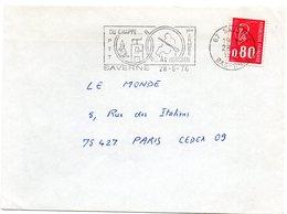 RHIN / Bas - Dépt N° 67 = SAVERNE 1976 =  FLAMME SECAP Illustrée ' Du CHAPPE à L'hertzien' - Oblitérations Mécaniques (flammes)