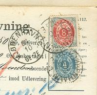 Denmark..POSTOPKRÆVNING. 1888. From The First Mounth 22.10.88. Beuatifull Letter. Scare - 1864-04 (Christian IX)