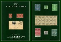 Catalogue 198éme Vente Sur Offres Robineau 2017 TB (comme Neuf) - Catalogues De Maisons De Vente