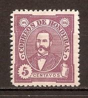1896 - Président Celio Arias 5c. Violet - N°78 (neuf Sans Gomme) - Honduras