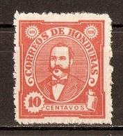 1896 - Président Celio Arias 10c. Rouge-orge - N°79 (neuf Sans Gomme) - Honduras
