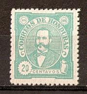 1896 - Président Celio Arias 20c. Vert - N°80 (neuf Sans Gomme) - Honduras