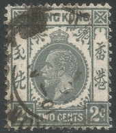 Hong Kong. 1921-37 KGV. 2c Gray Used. Mult Script CA W/M SG 118c - Hong Kong (...-1997)