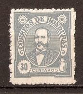 1896 - Président Celio Arias 30c. Bleu - N°81 (neuf Sans Gomme) - Honduras
