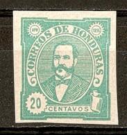 1896 - Président Celio Arias 20c. Vert - N°80 (neuf Sans Gomme) Non Dentelé - Honduras