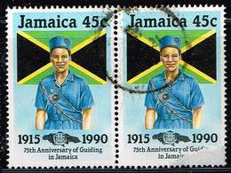 Jamaika 1990, Michel# 733 O Girl Guides Of Jamaica, 75th Anniv. - Jamaica (1962-...)