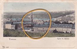 """VERVIERS """"Vue De L'église St HUBERT;"""" Maintenant Démolie  Circulée En 1903   Voir Scans  RARE ! - Verviers"""