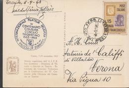 30195. Postal TRENTO Ferrovia (italia) 1963. Religion, Concilio Tridentino - 1961-70: Marcophilia