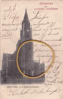 """VERVIERS """"Vue De L'église St HUBERT;"""" Maintenant Démolie  Circulée En 1906   Voir Scans  RARE ! - Verviers"""