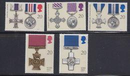 Great Britain 1990 Medals 5v ** Mnh (40944B) - 1952-.... (Elizabeth II)