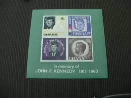 M9640 - Bloc Imperf. MNH Ghana- In Memory Of J.F. Kennedy 1917-1963 - Ghana (1957-...)