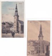 """VERVIERS """"2 Vues De L'église Notre-Dame """" Pas Circulée 1906   Voir Scans  RARE ! - Verviers"""